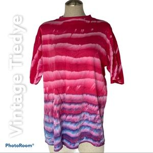 VTG. Ocean Blue Tie dye T Shirt  Pink Purple